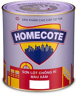 SƠN LÓT CHỐNG RỈ TOA MÀU XÁM HOMECOTE - 3L